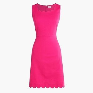 Jcrew size 6 BNWT linen hot pink dress